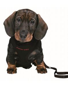 Peitoral + Trela Em Nylon Ajustavel 33-47 Cm / 10 Mm (Preto) Trixie Peitoral para cães