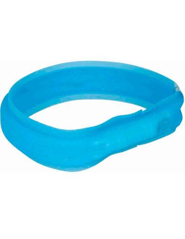 Flash Light Band Usb (M-L) 50 Cm / 30 Mm (Azul) | Coleiras para Cães | Trixie