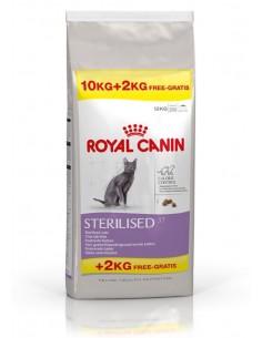 Royal Canin Sterilised 37 10+2kg Grátis Gato, Alimento Seco