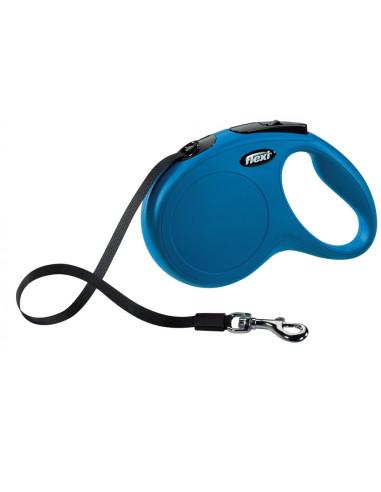 Flexi New Classic (Fita/Tam. L) 5 Mt / 50 Kg (Azul)   Trelas Extensíveis   Trixie