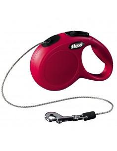 Flexi New Classic (Fio/Tam. S) 8 Mt / 12 Kg (Vermelho) | Trelas Extensíveis | Trixie
