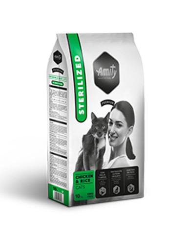 Ração Amity Premium para Gatos Esterilizados (Chiken & Rice) | Gatos | Amity