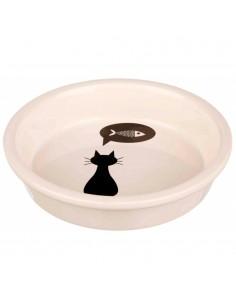 Comedouro para Gatos em Cerâmica Branca | Gatos | Trixie
