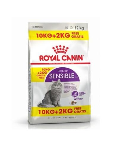 Royal Canin Sensible  10+2KG Grátis, Alimento Seco Gato | Ração Gatos Sensíveis | Royal Canin