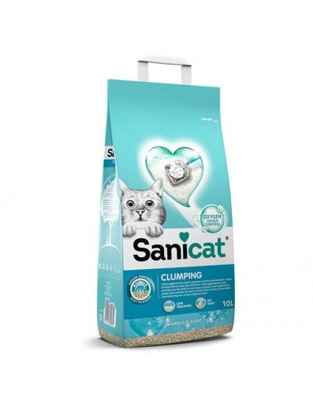Sanicat Clumping areia aglomerante Sabão de Marselha para gatos 10LT | Petshop |