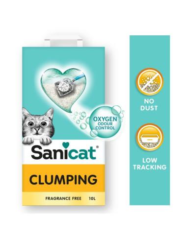 Sanicat Clumping areia aglomerante sem aroma para gatos 10LT   Gatos  