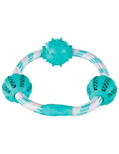 Brinquedo de Corda formato Argola c/Bolas Dentafun | Cães | Trixie