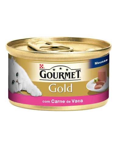 Gourmet Gold Mousse Carne Vaca Lata 85gr | Comida Húmida para Gatos | Gourmet