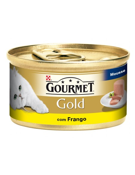 Gourmet Gold Mousse com Frango Lata 85gr