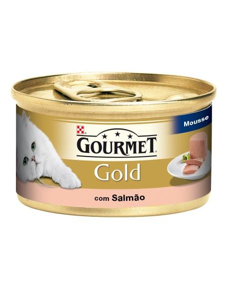 Gourmet Gold Mousse com Salmão Lata 85gr