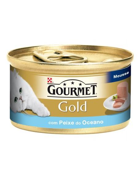 Gourmet Gold Mousse com Peixe do Oceano Lata 85gr