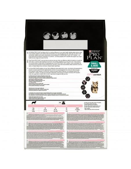 Pro Plan Small & Mini Puppy Sensitive Skin com Optiderma | Ração Seca para Cães | Pro plan
