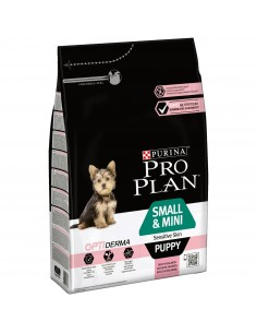Pro Plan Small & Mini Puppy Sensitive Skin com Optiderma Pro plan Alimentação Seca para Cães