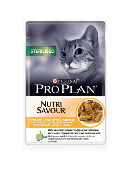 Purina PRO PLAN Nutrisavour Adult Sterilised com Frango