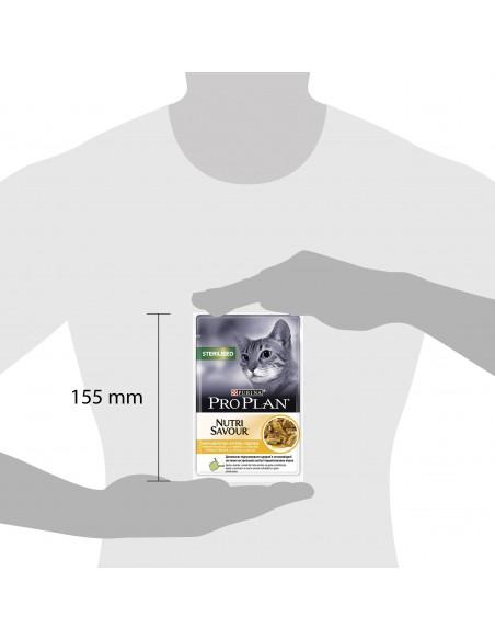 Purina PRO PLAN Nutrisavour Adult Sterilised com Frango Pro plan Alimentação Húmida para Gatos