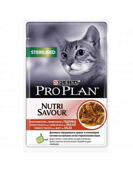 Purina PRO PLAN Nutrisavour Adult Sterilised com Carne de Vaca
