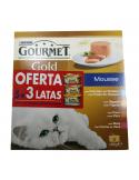 PACK GOURMET GOLD MOUSSE 5 + 3 OFERTA