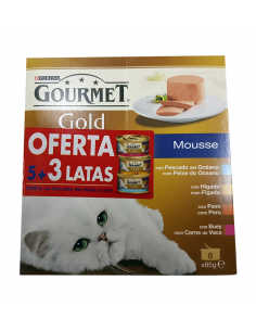 PACK GOURMET GOLD MOUSSE 5 + 3 OFERTA