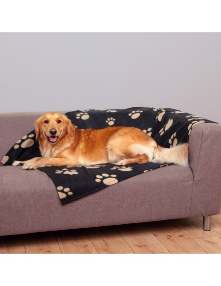 Manta Barney Preta/Beje Trixie Manta para cães