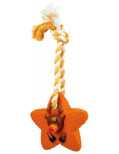 Corda com estrela em Latex Rena 33cm Trixie Sugestões de Natal
