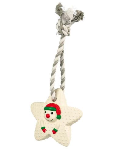 Corda com estrela em Latex Boneco Neve 33cm Trixie Sugestões de Natal