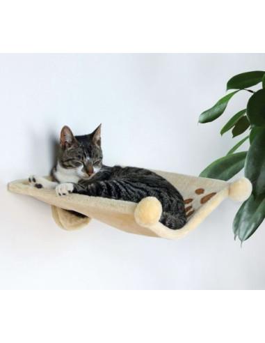 Hammock para Fixação na Parede Bege Trixie Arranhador para Gatos
