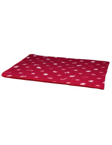 Manta Natalícia Yuki 100x70 cm Vermelho