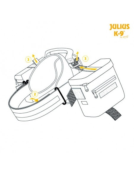 Mochila Julius-K9® Trixie Peitoral para cães