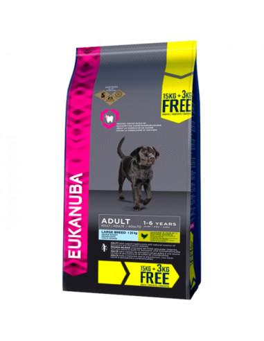 Eukanuba Adult Large 15+3kg Grátis Eukanuba Alimentação Seca para Cães