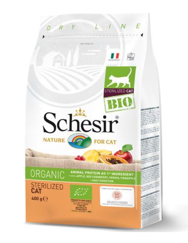 Schesir Bio Gato Sterilised 400gr Shesir Alimentação Biológica