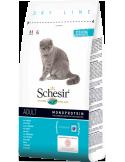 Schesir Dry Line Gato Adulto com Peixe Shesir Alimentação Seca