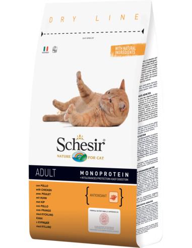 Schesir Dry Line Gato Adulto com Frango Shesir Alimentação Seca