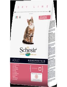 Schesir Dry Line Gato Adulto com Presunto Shesir Alimentação Seca