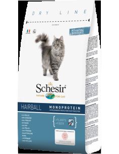 Schesir Dry Line Gato Hairball com Frango Shesir Cuidados Especiais