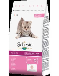 Schesir Dry Line Gato Kitten com Frango Shesir Alimentação Seca