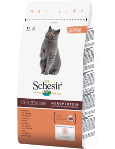 Schesir Dry Line Gato Sterilised e Light com Frango