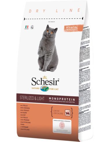 Schesir Dry Line Gato Sterilised e Light com Frango Shesir Alimentação Seca