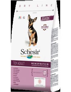 Schesir Dry Line Cão Toy Adult com Frango Shesir Alimentação Seca para Cães