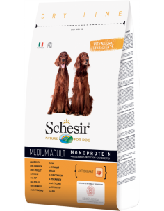 Schesir Dry Line Cão Medium Adult com Frango Shesir Alimentação Seca para Cães