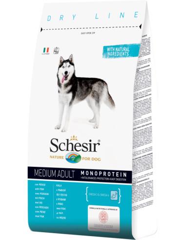 Schesir Dry Line Cão Medium Adult com Peixe Shesir Alimentação Seca para Cães