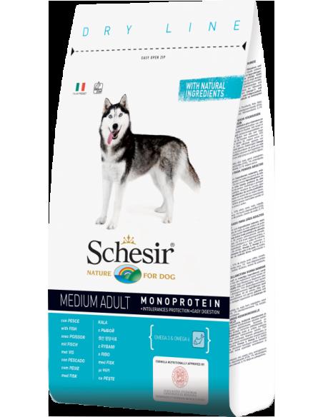 Schesir Dry Line Cão Medium Adult com Peixe