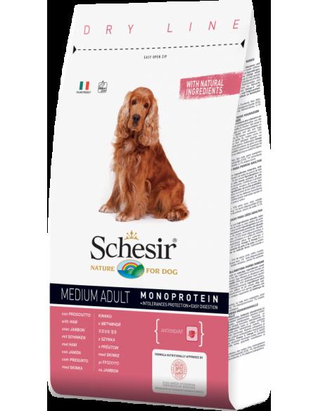 Schesir Dry Line Cão Medium Adult com Presunto