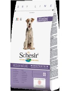 Schesir Dry Line Cão Medium Mature com Frango Shesir Alimentação Seca para Cães