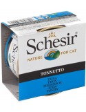 Schesir Lata para Gato Atum 0.85gr Shesir Comida Húmida para Gatos