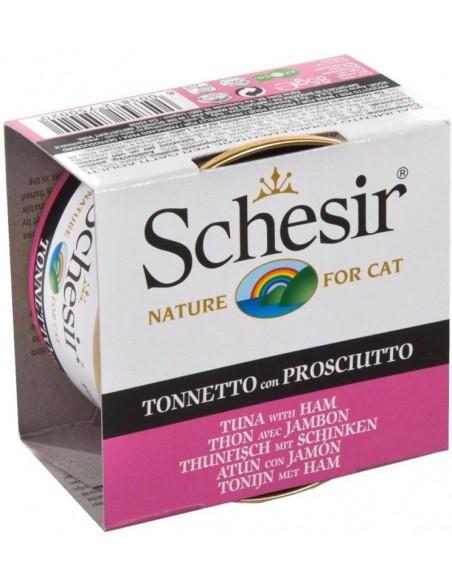 Schesir Lata para Gato Atum com Presunto 0.85gr