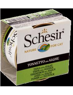 Schesir Lata para Gato Atum com Algas 0.85gr Shesir Alimentação Húmida para Gatos