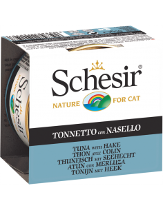 Schesir Lata para Gato Atum com Pescada