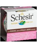 Schesir Lata para Gato Atum com Filezinhos de Frango e Arroz 0.85gr