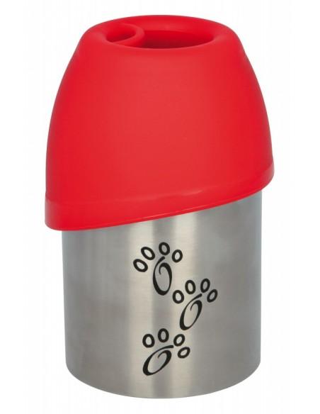 Garrafa com Bebedouro em plástico/ inox   Bebedouro para Cães   Trixie