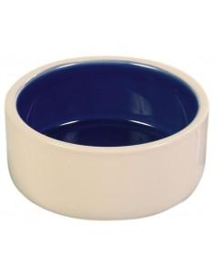 Gamela em Cerâmica (cor: creme/azul) | Comedouro para Cães | Trixie